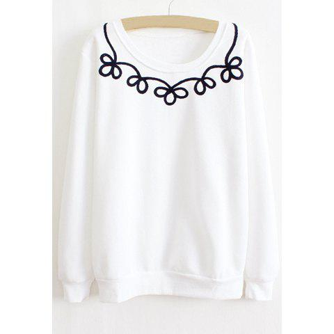 Buy Floral Print Long Sleeves Casual Style Cotton Blend Women's T-Shirt