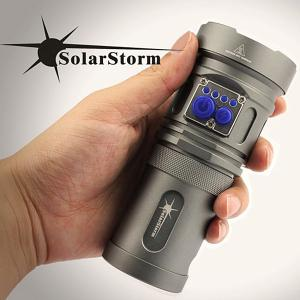Lampe de Poche Conception Attrayante Solarstorm Warrior 3 x Cree XM-L U2 LED 2200 Lumens 4-Mode -