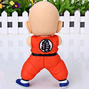 Cool Anime Character Dragon Ball 7 inch Kuririn PVC Figure Model Toy for Cartoon Fans -