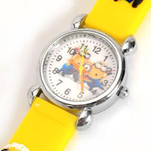 Yellow beautiful cartoon rubber strap quartz watch with despicable me watchband for children for Despicable watches