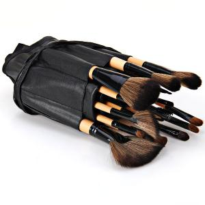 High-end Log Brush Sets Soft Cosmetic Face Make-up Brush Powder Brush for Lady (24Pcs) -
