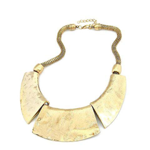 Sale Fashion Simple Alloy Pendant Thick Chain Necklace For Women COLOR ASSORTED
