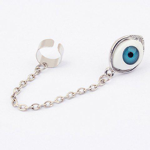 Outfits Alloy Long Tassel Design Eyeball Shape Earring AS THE PICTURE