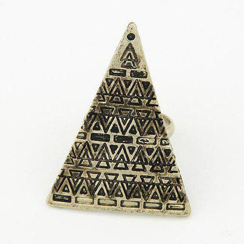Buy Stylish Triangle Shape Pattern Decorated Ring For Women AS THE PICTURE ONE SIZE