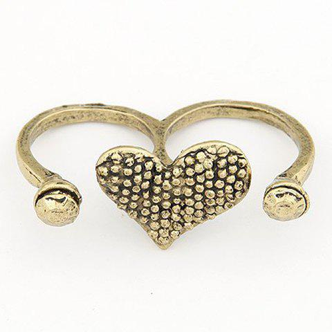 Trendy Vintage Bicyclo Pattern Heart Shape Design Alloy Ring For Women