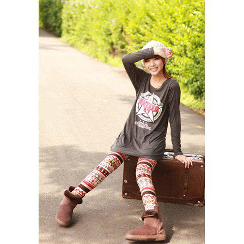 Online Trendsetter Style High Quality Cotton Special Design Leggings RED