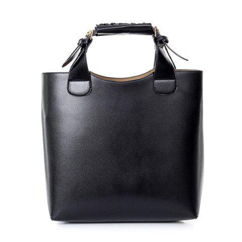 Unique Vintage Tote Shopping Bag Handbag Handle shopping Black - BLACK  Mobile