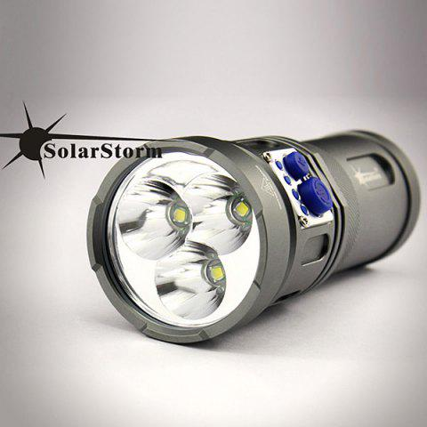 Lampe de Poche Conception Attrayante Solarstorm Warrior 3 x Cree XM-L U2 LED 2200 Lumens 4-Mode