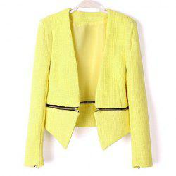 Casual Style Solid Color Zipper Detachable Long Sleeve Coat For Women -