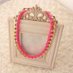Fashion Simple Knitted Design Iridescent Necklace For Women -