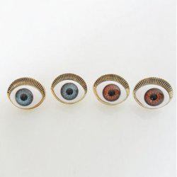 Pair of Fashion Simple Eye Shaped Earrings For Women