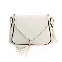 Sweet Solid Color and Tassels Design Women's Crossbody Bag -