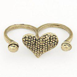 Vintage Bicyclo Pattern Heart Shape Design Alloy Ring For Women -