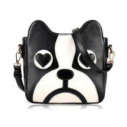 Sweet Puppy Pattern and PU Leather Design Women's Crossbody Bag -