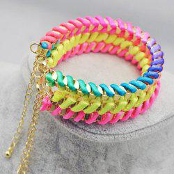 Rope Weaved Metal Adjustable Bracelet -