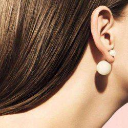 Pair of Chic Style Two-Sided Pearl Design Earrings For Women