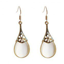 Water Drop Fake Opal Earrings -