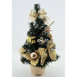 Chic Style Bowknot & Ball & Gift & Leaf Shape 33 CM Bottle Brush Christmas Tree