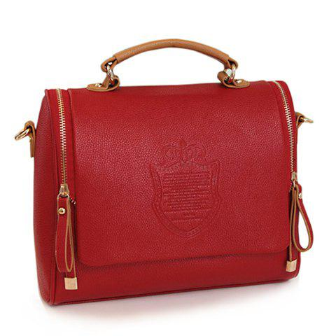 Best Vintage Solid Color and Coining Design Women's Tote