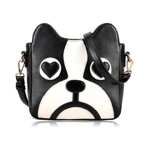 Shop Sweet Puppy Pattern and PU Leather Design Women's Crossbody Bag