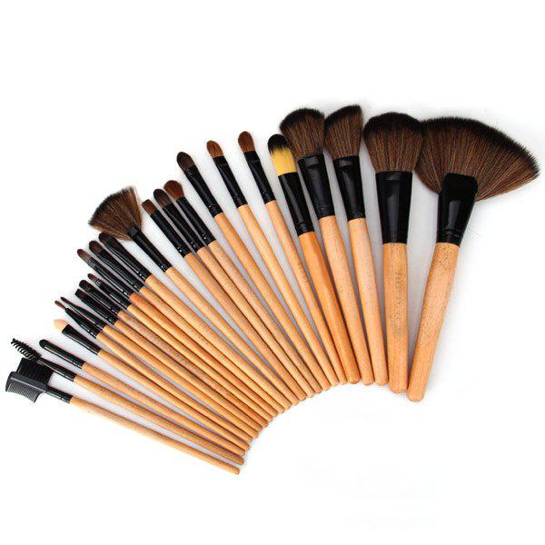High-end Log Brush Sets Soft Cosmetic Face Make-up Brush Powder Brush for Lady (24Pcs)