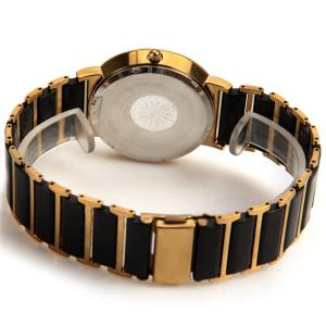 Longbo Quartz Watch with Diamond Dots Indicate Steel and Plastic Watchband for Women -