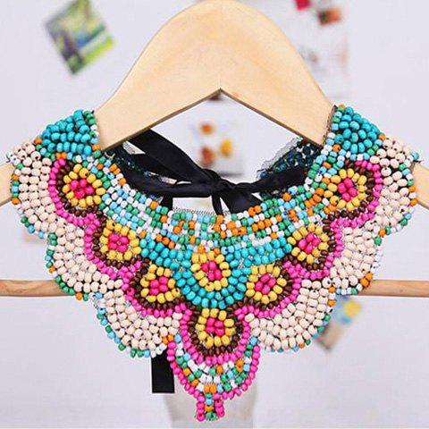 Fashion Bohemia Tiny Beads Design Fake Collar Necklace - AS THE PICTURE  Mobile