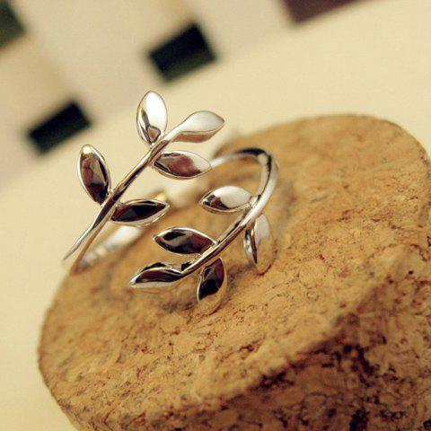 Chic Curved Leaf Shape Alloy Ring