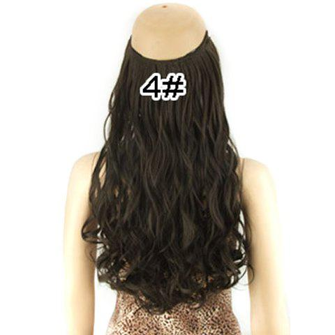 Shop Fashion Fluffy Long Wavy Clip-In High Temperature Fiber Hair Extension For Women