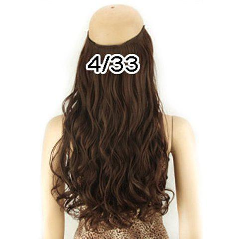 Unique Fashion Fluffy Long Wavy Clip-In High Temperature Fiber Hair Extension For Women