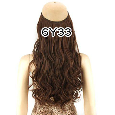 Best Fashion Fluffy Long Wavy Clip-In High Temperature Fiber Hair Extension For Women BROWN