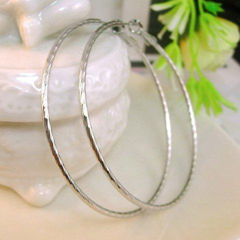 Hot Pair of Simple Solid Color Fine Ring Earrings For Women