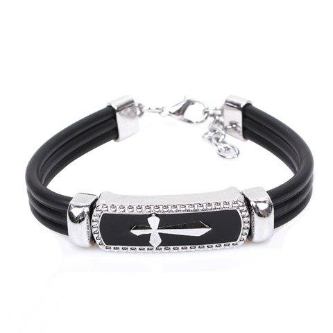 Cheap Cross Embellished Cuff Bracelet