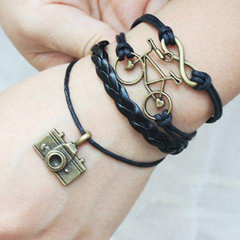 Store Vintage Infinity Bike Camera Multilayered Friendship Bracelet
