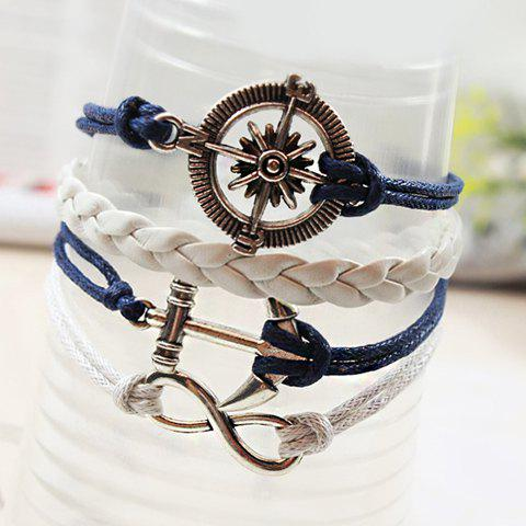 Fancy Retro Anchor Rudder Decorated Bracelet