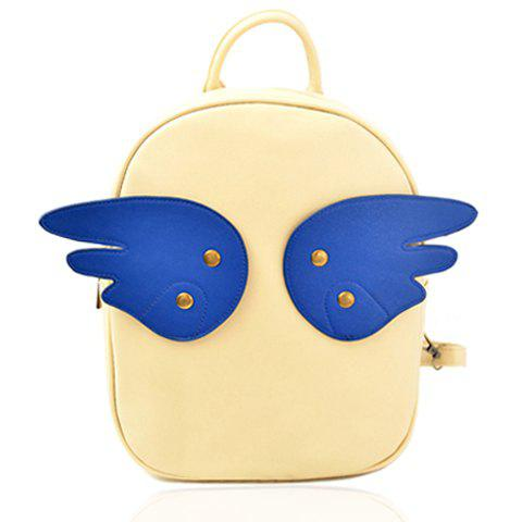 Chic Sweet Wings and Rivets Design Women's Satchel