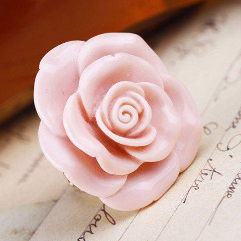 Outfit Sweet Pink Flower Decorated Ring For Women - ONE SIZE AS THE PICTURE Mobile