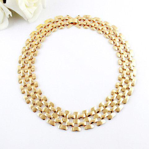 Cheap Hollow Out Multilayered Chain Necklace AS THE PICTURE