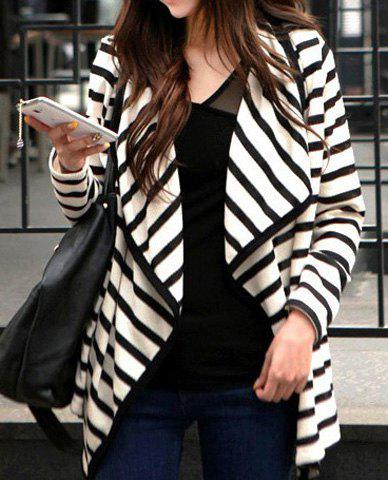 Latest Stripe Cardigan Long Sleeve Thin Cotton Jacket Coat