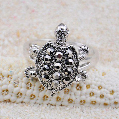 Outfits Diamante Turtle Embellished Alloy Ring - ONE SIZE COLOR ASSORTED Mobile