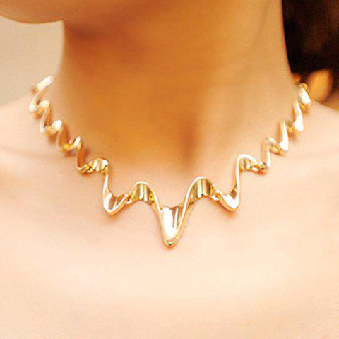 Online Wavy Shape Alloy Necklace