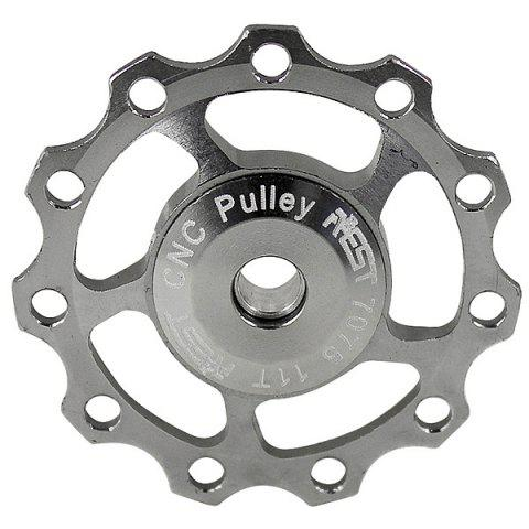 New 1PCS AEST A-06 Aluminium Jockey Wheel Rear Derailleur Pulley for Shimano and SRAM - Silver SILVER