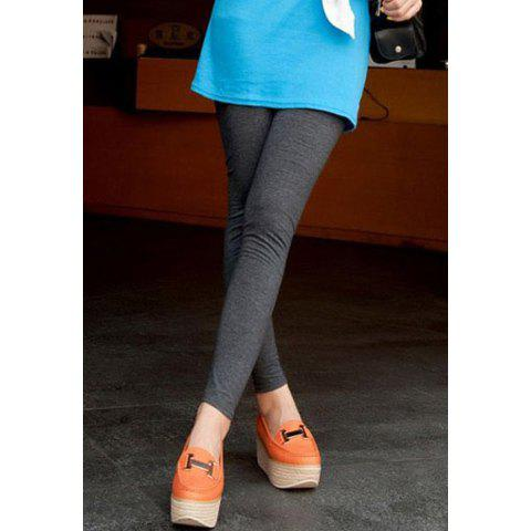 Outfit Elastic Waist Narrow Feet Solid Candy Color Stretchy Casual Women's Legging
