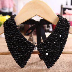 Hot Sale Beads & Rhinestoned Design Fake Collar Necklace For Women - BLACK