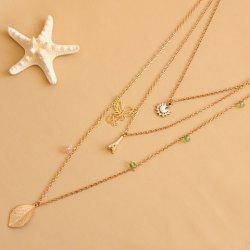 Leaf Butterfly Tower Swan Sweater Chain - AS THE PICTURE