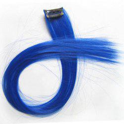 Fashion Style Long Straight Highlight High Temperature Fiber Women's Clip-In Hair Extension