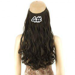 Fashion Fluffy Long Wavy Clip-In High Temperature Fiber Hair Extension For Women - BLACK
