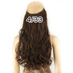 Fashion Fluffy Long Wavy High Temperature Fiber Hair Extension For Women - DEEP BROWN