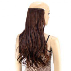 Trendy Fluffy Long wavy High Temperature Fiber Hair Extension For Women - BROWN