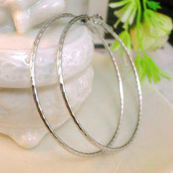 Pair of Simple Solid Color Fine Ring Earrings For Women -